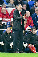 Football - 2019 / 2020 UEFA European Championships Qualifier - Group E: Wales vs. Croatia<br /> <br /> Wales manager Ryan Giggs  on the touchline as the game heads towards a draw , at Cardiff City Stadium.<br /> <br /> COLORSPORT/WINSTON BYNORTH