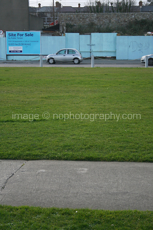 Site for sale beside the seafront at the seaside town of Bray in Wicklow Ireland