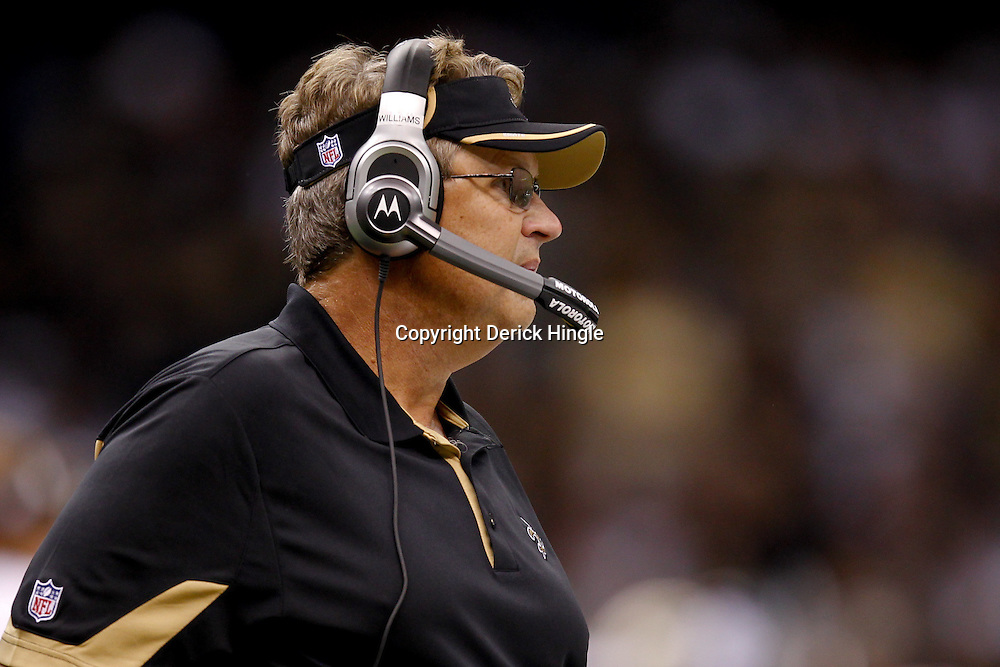 September 9, 2010; New Orleans, LA, USA;  New Orleans Saints defensive coordinator Gregg Williams on the field during the NFL Kickoff season opener at the Louisiana Superdome. The New Orleans Saints defeated the Minnesota Vikings 14-9.  Mandatory Credit: Derick E. Hingle