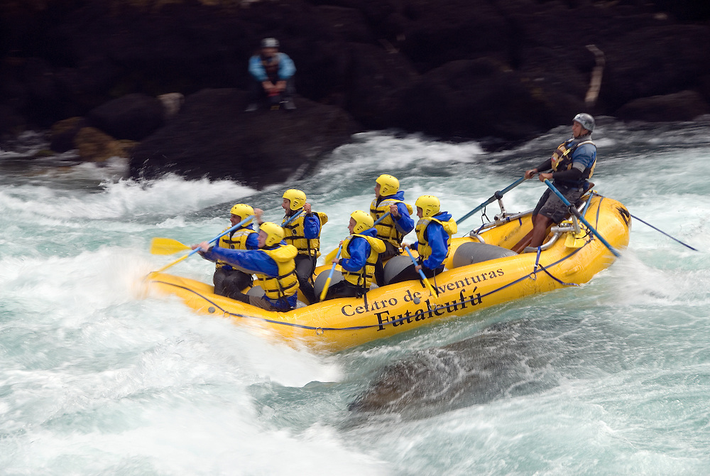 Whitewater rafting on Chile's Futaleufu River.