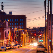 Looking west along 18th Street from Holmes, Kansas City, Missouri.