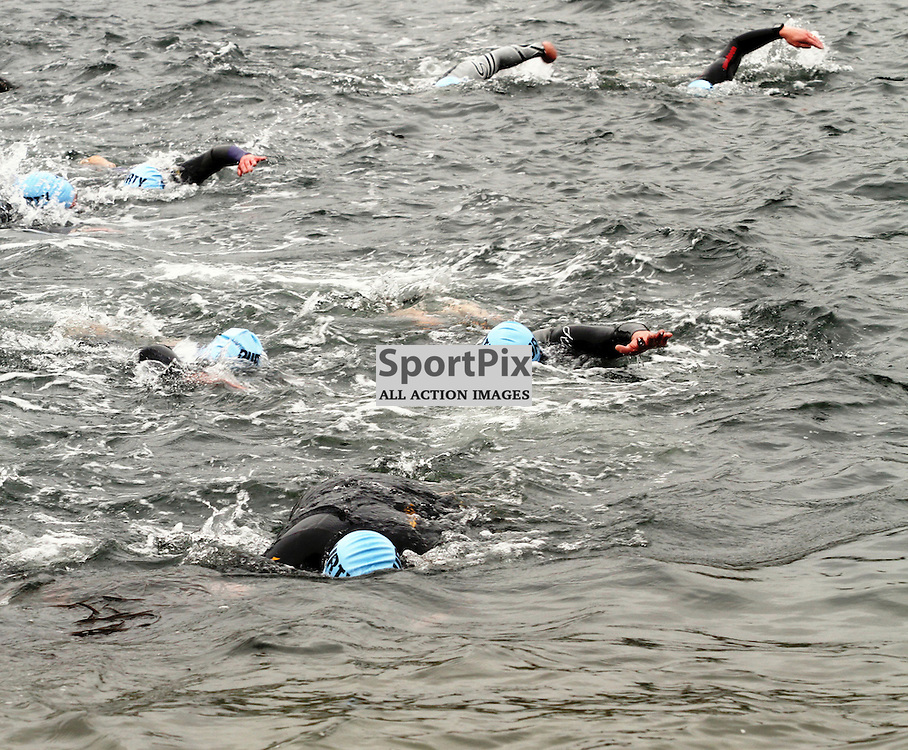 200 swimmers entered  the water to swim 550m to the Island of Kerrera as first part of the Craggy Island triathlon in its 2nd year with over 400 entrants the competition having to be spread over 2 days ..Kevin McGllynn(c)    StockPix.eu