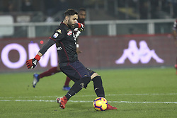 December 15, 2018 - Turin, Piedmont, Italy - Salvatore Sirigu (Torino FC) during the Serie A football match between Torino FC and Juventus FC at Olympic Grande Torino Stadium on December 15, 2018 in Turin, Italy. Torino lost 0-1 against Juventus. (Credit Image: © Massimiliano Ferraro/NurPhoto via ZUMA Press)