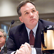 """Patrick J. Fitzgerald (U.S. Attorney for the Northern District of Illinois). Panel: Al Qaeda. The 9/11 Commission's 12th public hearing on """"The 9/11 Plot"""" and """"National Crisis Management"""" was held June 16-17, 2004, in Washington, DC."""