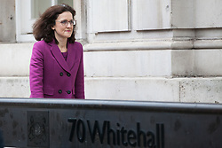 London, UK. 6th December, 2018. Theresa Villiers, Conservative MP for Chipping Barnet, arrives for a Privy Council meeting at the Cabinet Office.