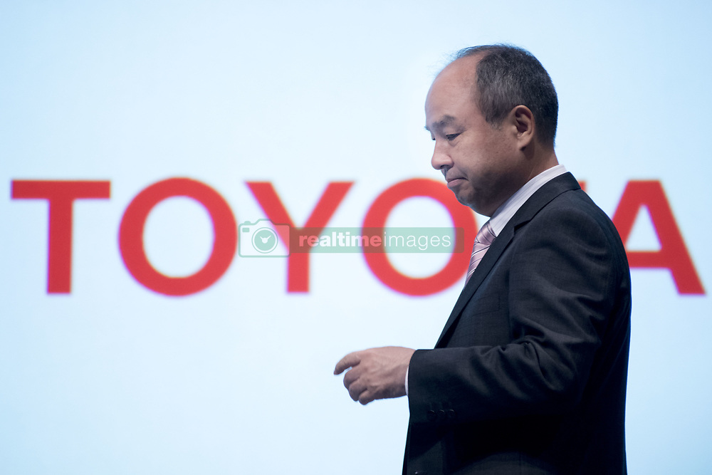 October 4, 2018 - Tokyo, Tokyo, Japan - Corp. Chief Executive Officer Masayoshi Son speaks during a joint announcement with Toyota Motor Corp. to make new venture to develop mobility services in Tokyo, Japan, 04 October 2018. SoftBank Corp. and Toyota Motor Corp. announced on 04 October 2018 that they will make a joint venture company MONET Technologies Corporation to develop mobility services. (Credit Image: © Alessandro Di Ciommo/NurPhoto/ZUMA Press)