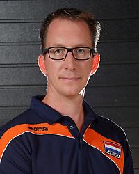 07-10-2017 NED: Portret zitvolleybalteam Oranje mannen 2017-2018, Doorn<br /> Nederland bereidt zich voor op het komende EK zitvolleybal / Coach Hans Mater