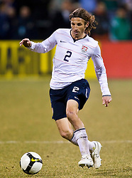 United States defender Frankie Hejduk (2) in action against Mexico.  The United States men's soccer team defeated the Mexican national team 2-0 in CONCACAF final group qualifying for the 2010 World Cup at Columbus Crew Stadium in Columbus, Ohio on February 11, 2009.