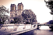Notre Dame Cathedral and the Seine River, Paris, France