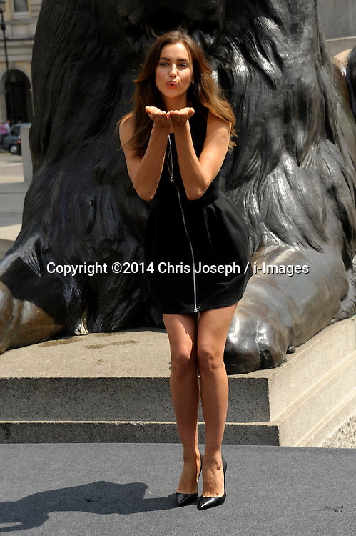 Image ©Licensed to i-Images Picture Agency. 02/07/2014. London, United Kingdom. Irina Shayk attends a photocall for 'Hercules' at Trafalgar Square. Picture by Chris Joseph / i-Images