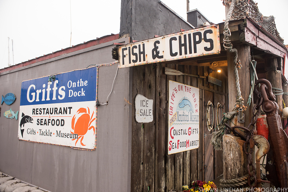 Griff's Seafood Restaurant on the municipal dock in Port Orford, Oregon
