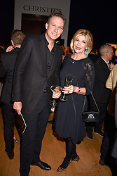 Jeff Holland and Bee van Zuylen at the Terence Higgins Trust Auction 2017 at Christie's, 8 King Street, St.James's, London England. 11 April 2017.