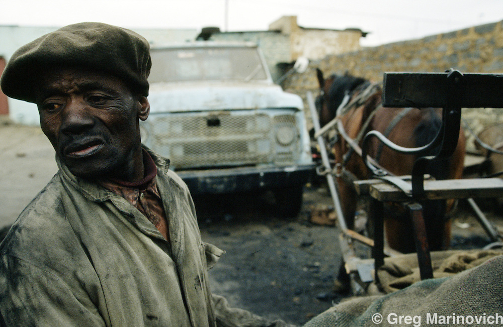 A coal merchant in Soweto, 1991/2/3. South Africa.