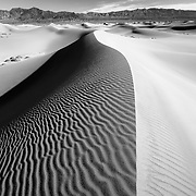 Dune Crest - Mesquite Dunes - Death Valley, CA - Black & White