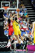 DESCRIZIONE : Basketball Jeux Olympiques Londres Demi finale<br /> GIOCATORE : Cambage Elizabeth AUS<br /> SQUADRA : AUSTRALIE Femme<br /> EVENTO : Jeux Olympiques<br /> GARA : USA AUSTRALIE<br /> DATA : 09 08 2012<br /> CATEGORIA : Basketball Jeux Olympiques<br /> SPORT : Basketball<br /> AUTORE : JF Molliere <br /> Galleria : France JEUX OLYMPIQUES 2012 Action<br /> Fotonotizia : Jeux Olympiques Londres demi Finale Greenwich Arena<br /> Predefinita :