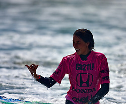 HUNTINGTON BEACH, California/USA (Saturday,July 26, 2008) 14 year old surf prodigy Malia Manuel wins the  U.S. Open of Surfing 2011. Photo: Eduardo E. Silva.