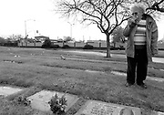 Fabiola Trejo visits her husband Robert's gravesite for the first time since the funeral March 4, 2009. Robert was diagnosed with Alzheimer's disease in 2002, and after a long battle with the disease he passed away quietly in his care facility with his daughter Linda by his side on Jan. 24. Fabiola was home sick and was not there when he passed.