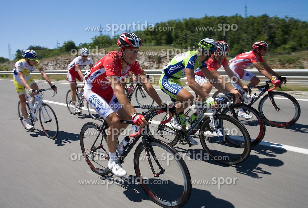 Francesco Failli  (ITA) of Acqua Sapone-Caffe Mocambo at 1st stage of Tour de Slovenie 2009 from Koper (SLO) to Villach (AUT),  229 km, on June 18 2009, in Koper, Slovenia. (Photo by Vid Ponikvar / Sportida)