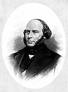 John Ericsson (1803-89) Swedish-born American engineer and inventor. Designed ironclad warship  'Monitor'. Wood engraving.