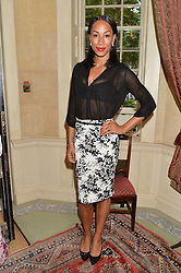 Athlete JADE JOHNSON at The House of Britannia reception hosted by Lady Delves Broughton at 42 Berkeley Square, London on 26th June 2014.