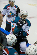 KELOWNA, CANADA - JANUARY 04:  Jake Kryski #14 of the Kelowna Rockets at the Kelowna Rockets game on January 04, 2017 at Prospera Place in Kelowna, British Columbia, Canada.  (Photo By Cindy Rogers/Nyasa Photography,  *** Local Caption ***