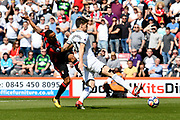 Callum Wilson (13) of AFC Bournemouth shoots at goal during the Premier League match between Bournemouth and Swansea City at the Vitality Stadium, Bournemouth, England on 5 May 2018. Picture by Graham Hunt.