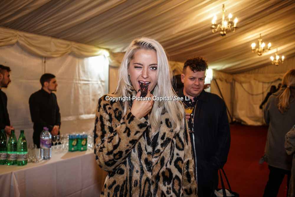 London,England,UK: 18th January 2016: Chloe Paige attends the 'Magical Lantern Festival' VIP Night with an all-new show transforming historic Chiswick House Gardens into a fairytale world of light sculptures, Chinese arts, Virtual Reality, games & food with a funfair and 600 square metres ice rink at Chiswick House Gardens  from January 19th - February 26th. by See Li
