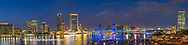 63412-01201 St. Johns River and Jacksonville Florida skyline at twilight Jacksonville, FL