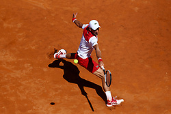 May 19, 2018 - Rome, Italy - Novak Djokovic (SRB) at Foro Italico in Rome, Italy during Tennis ATP Internazionali d'Italia BNL semi-final on May 19, 2018. (Credit Image: © Matteo Ciambelli/NurPhoto via ZUMA Press)