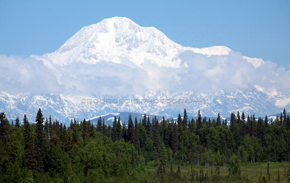 Mt. McKinley - Denali National Park, Alaska<br /> Shot outside the park along the road near Petersville, AK.