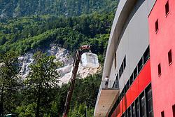 Reconstruction of Arena Podmezakla for Eurobasket 2013,  on June 18, 2013 in Jesenice, Slovenia. (Photo By Vid Ponikvar / Sportida)