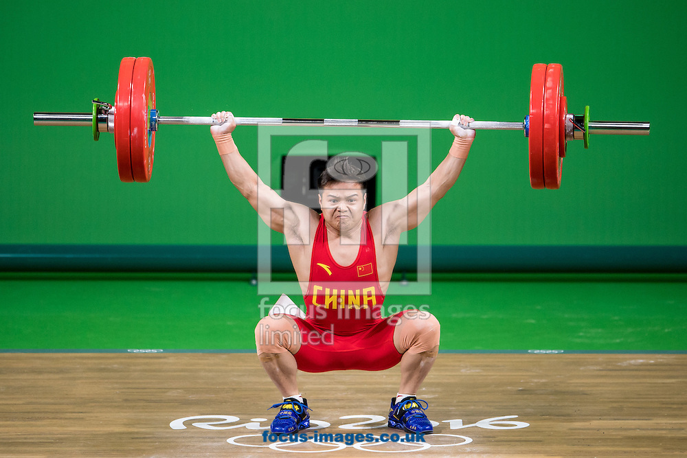 Qingquan Long of China winning the Gold medal in the Men's 56 Kg Weightlifting during XXXI 2016 Olympic Summer Games at Rio de Janeiro, Brazil.<br /> Picture by EXPA Pictures/Focus Images Ltd 07814482222<br /> 08/08/2016<br /> *** UK & IRELAND ONLY ***<br /> <br /> EXPA-Eibner-Pressefoto-160808-5051.jpg