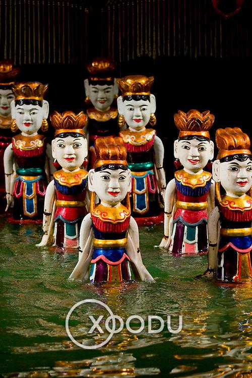 Dancing fairy Vietnamese water puppets (Hanoi, Vietnam - Nov. 2008) (Image ID: 081113-1531521a)