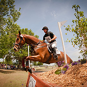 Waylon Roberts and Yarrow at the 2013 Ocala Horse Properties International 3 Day Event in Ocala, Florida.