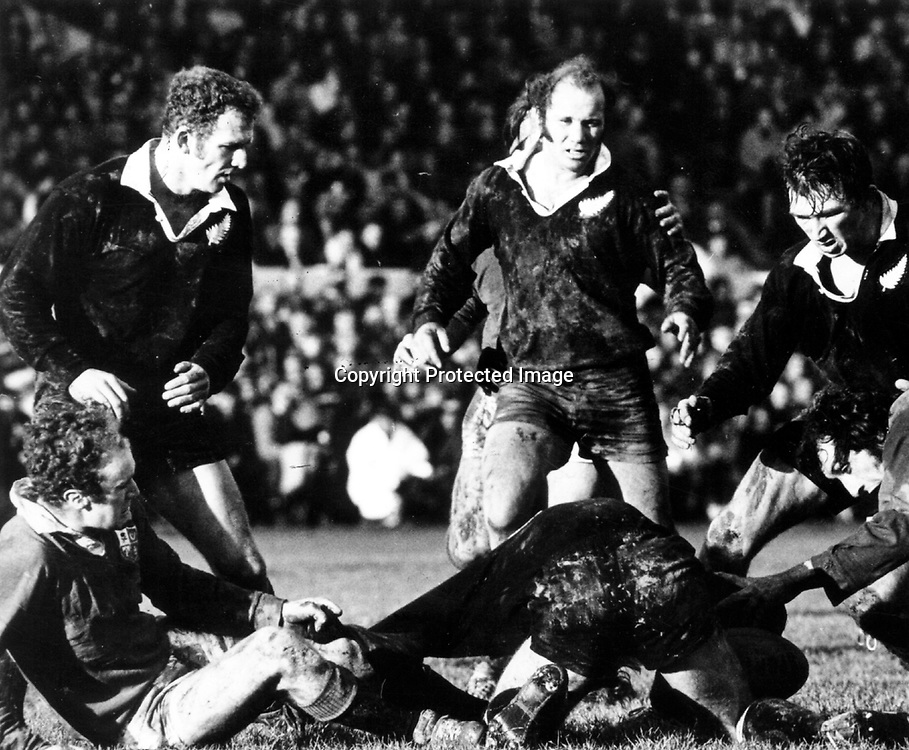 Sid Going in action during the rugby union test match between the All Blacks and the British & Irish Lions, 1971. Photo: PHOTOSPORT