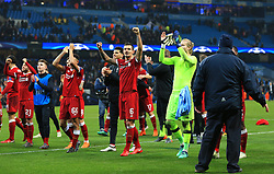 Dejan Lovren of Liverpool celebrates at full time - Mandatory by-line: Matt McNulty/JMP - 10/04/2018 - FOOTBALL - Etihad Stadium - Manchester, England - Manchester City v Liverpool - UEFA Champions League Quarter Final Second Leg