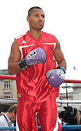 Picture by Richard Gould/Focus Images Ltd +44 7855 403186<br /> 22/06/2013<br /> Kell Brooke takes part in a public workout at Queen Victoria Square, Hull.