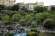 May 25, 2014: Monaco Grand Prix: F1 fans on the hillside above Monaco