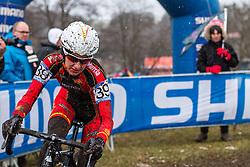 Aida Nuno (ESP), Women Elite, Cyclo-cross World Championships Tabor, Czech Republic, 31 January 2015, Photo by Pim Nijland / PelotonPhotos.com
