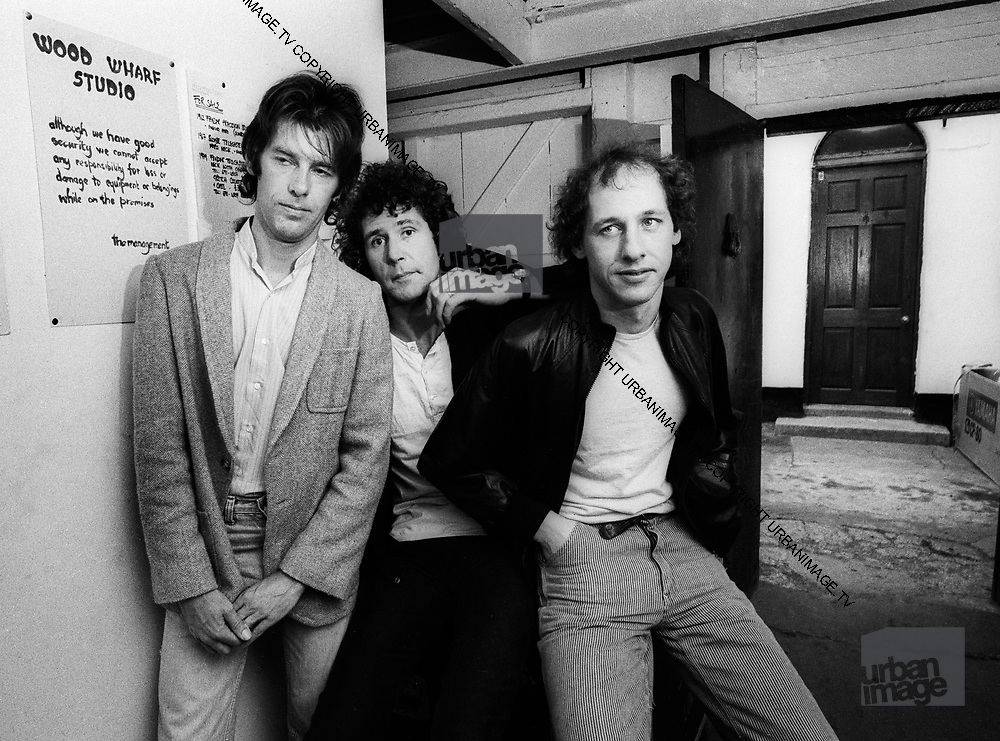 Dire Straits. Pick Withers John Illsley and Mark Knopfler, 1981