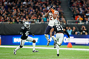 Ha Ha Clinton-Dix (DB) of the Chicago Bears catches the ball during the International Series match between Oakland Raiders and Chicago Bears at Tottenham Hotspur Stadium, London, United Kingdom on 6 October 2019.