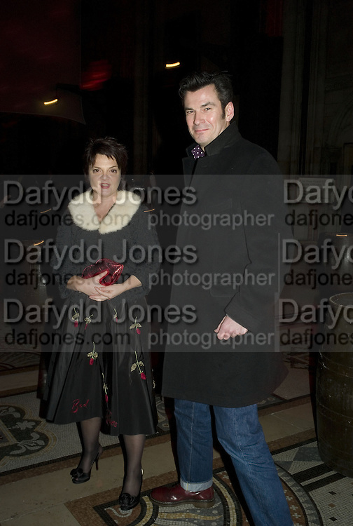 LULU GUINNESS AND JOHN INGELOW, European Film premiere of Sweeny Todd,  Odeon Leicester Sq. and party afterwards at the Royal Courts of Justice. 10 January 2008. -DO NOT ARCHIVE-© Copyright Photograph by Dafydd Jones. 248 Clapham Rd. London SW9 0PZ. Tel 0207 820 0771. www.dafjones.com.