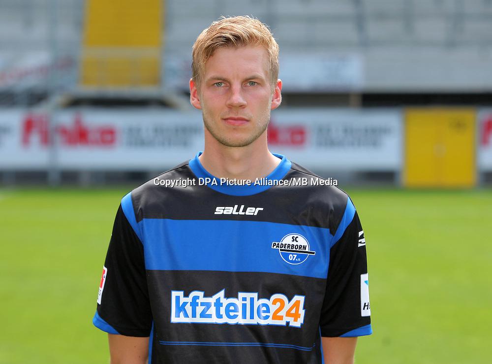 German Soccer Bundesliga - Photocall SC Paderborn on 04 July 2014 in Paderborn, Germany: Thomas Bertels.