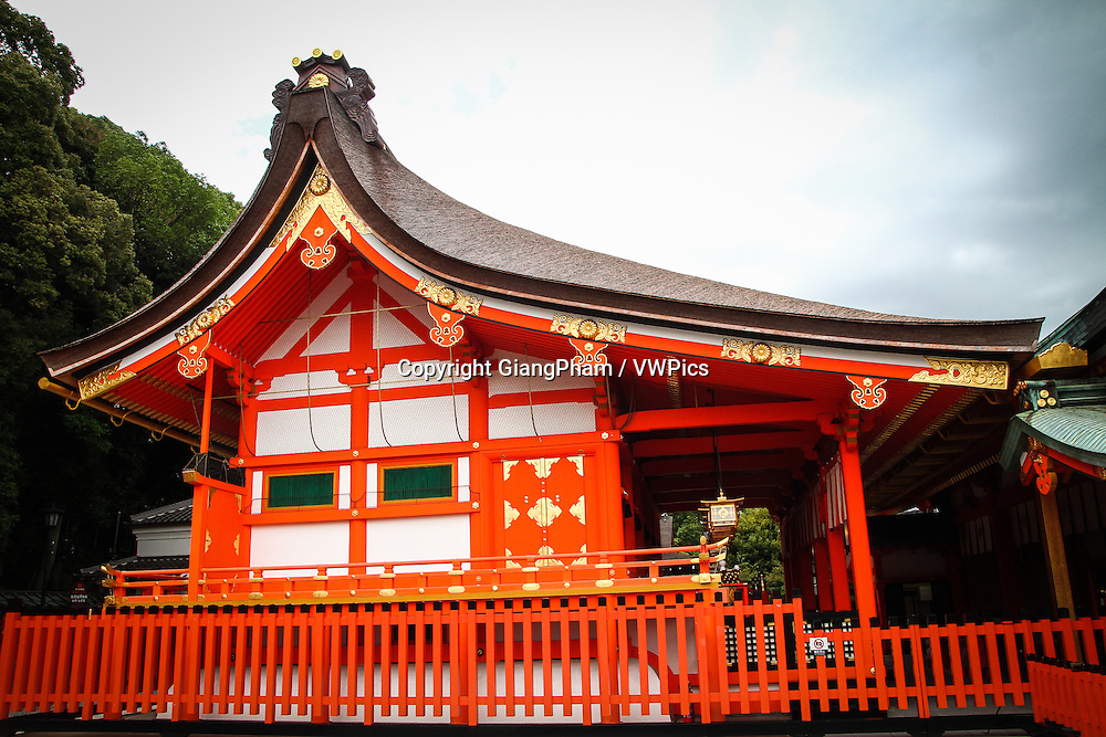 A roof house inside Fushimi Inari Shrine in Kyoto Prefectures, Japan
