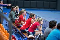 ROTTERDAM -  De bank van Tilburg .  Laren D2 tegen Tilburg (r00d) D2 tijdens het Landskampioenschap reserveteam zaal 2013. FOTO KOEN SUYK