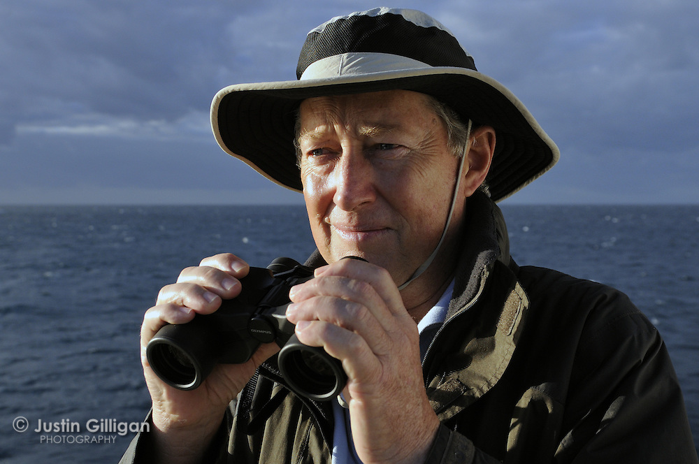 Robert Prettyjohn, first person to encounter a minke whale on the Great Barrier Reef, Queensland, Australia, Pacific Ocean.