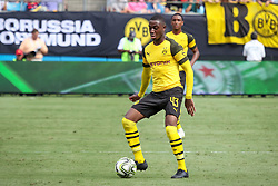 July 22, 2018 - Charlotte, North Carolina, USA - Borussia Dortmund midfielder Denzeil Boadu during an International Champions Cup match at Bank of America Stadium in Charlotte, NC.  Borussia Dortmund of the German Bundesliga beat Liverpool of the English Premier League 3 to 1. (Credit Image: © Jason Walle via ZUMA Wire)