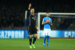 March 7, 2017 - Naples, Italy - Real Madrid's Portuguese forward Cristiano Ronaldo reacts during the UEFA Champions League football match SSC Napoli vs Real Madrid on March 7, 2017 at the San Paolo stadium in Naples  (Credit Image: © Matteo Ciambelli/NurPhoto via ZUMA Press)