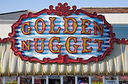 Golden Nugget amusement arcade sign, Great Yarmouth, Norfolk, England