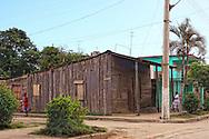 Wooden house in Guantanamo city, Guantanamo, Cuba.